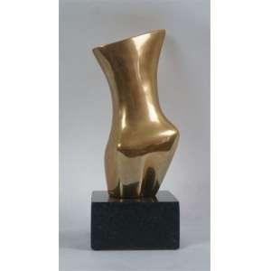 FRANKLIN - Mulher - Escultura de bronze - dat 1983 - 19 x 8 cm. Com certificado da Skultura Galeria de arte