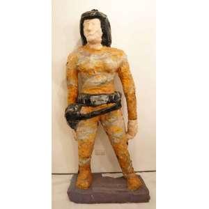 Sergio Romagnolo -Escultura representando figura feminina em plastico modelado - 186 cm de altura.