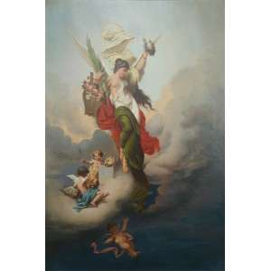 Pedro Américo – Alegoria – óleo sobre tela / CIE - 57 x 46 cm Dat 1895 .