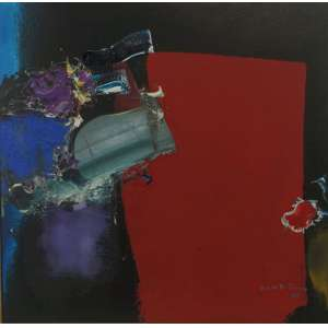 MANABU MABE- Abstrato - OST / CID - 51 x 51 cm , Dat 86