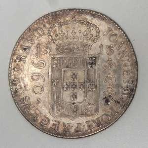 Moedas de Prata, Brasil - 960 Réis, 1813 Rio. Soberba