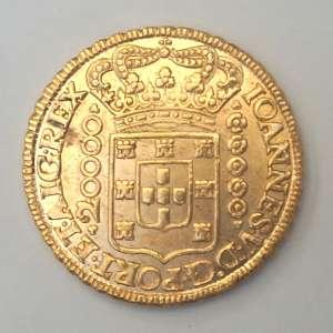 Moeda de Ouro, Brasil - 20.000 Réis, 1726 MMMM (Dobrão). Mais um Dobrão, este de 1726 também em excepcional estado de conservação