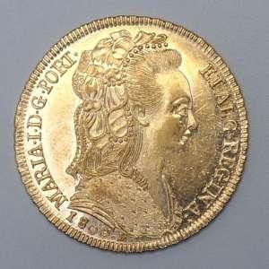 Moeda de Ouro, Brasil - 6.400 Réis, 1800 Rio. Flor de Cunho