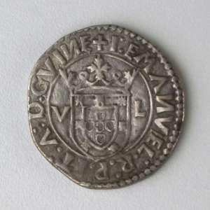 Portugal, Moeda de Prata - 1 Tostão, sem data, reinado de D. Manuel I (1495-1521) raro estado de conservação para esta moeda da época do descobrimento do Brasil