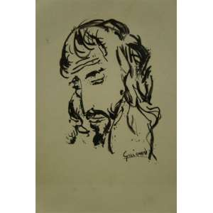 GUIGNARD - Cristo - Nanquim/CID - 28 x 20 cm