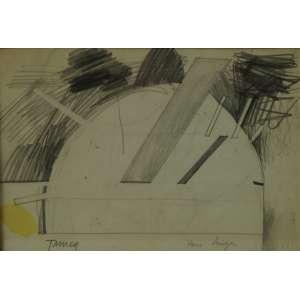 Tuneau - Abstrato - Desenho - CIE - 15 x 22 cm.
