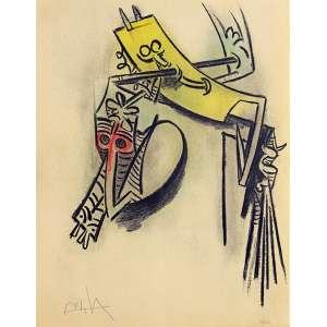 Wifredo Lam<br />Montée des sèves - 37/262. Litografia, 65x50 cm, 1974, A.C.I.E.