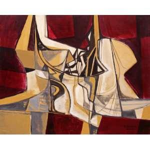 Burle Marx, Roberto<br />Sem título. Óleo sobre tela, 76x95 cm, 1983, A.C.I.D.