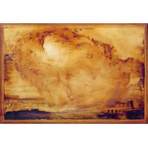 Carlos Araujo<br />Anjo em siena. Óleo sobre tela colada em madeira, 110x160 cm, 2014, A.C.I.E.
