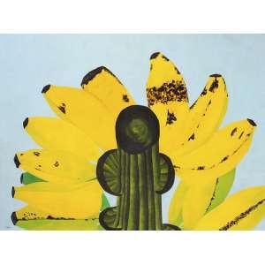 Antonio H. Amaral<br />Cacho de banana. Óleo sobre tela, 128x170 cm, 1970, A.C.I.E.