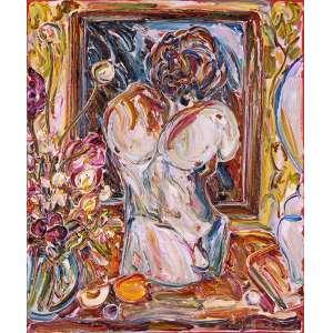 Sou Kit Gom<br />Torso de gesso. Acrílica sobre tela, 125x105 cm, 2014/15, A.C.I.D.