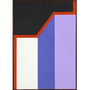 Maurício Nogueira Lima<br />Geometrias. Acrílica sobre tela sobre duratex, 65x45 cm, 1984, A.V.