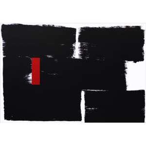 Amilcar de Castro<br />Sem título. Acrílica sobre tela, 126x183 cm, déc. 90.<br />Com certificado de autenticidade do Instituto Amilcar de Castro.
