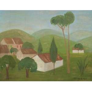 REBOLO, Francisco - Paisagem - O.S.T. - 36 x 46 cm - a.c.i.d. 1975