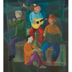 HARRY ELSAS - Músicos - O.S.T. - 110 x 100 cm - a.c.i.d. 1986