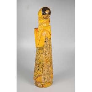 ABERLARDO LUIZ - Figura feminina - Papel machê - 66 cm de altura - assinada na base.