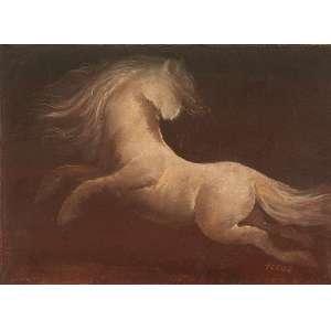 TERUZ, Orlando - Cavalo - óleo sobre tela - 17 x 23 cm - a.c.i.d.