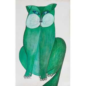 ALDEMIR MARTINS - Gato - nanquim e guache - 49 x 32 cm - a.c.i.e. 1967