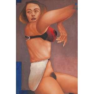 JOÃO CÂMARA - De alguma maneira popular - óleo sobre tela - 90 x 60 cm - a.c.i.e. 1976 - com etiqueta da galeria Bonino.
