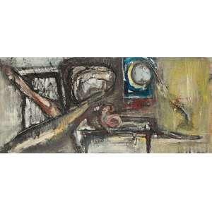 SHIRÓ, Flávio - Crescente - óleo sobre tela - 62 x 133 cm - a.c.s.e.