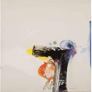 MABE, Manabu - Abstrato - óleo sobre tela - 56 x 56 cm - a.c.i.d. 1975 - obra registrada no instituto Manabu Mabe.