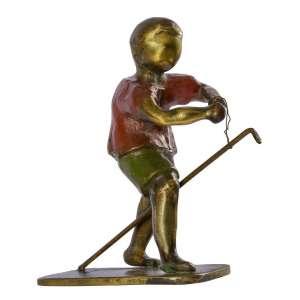 Ivan Cruz<br>Cavalinho de Pau – 16,5 x 11 x 8 cm <br>Bronze Patinado – Ass. Na Obra