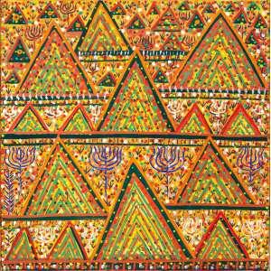 Fernando Lucchesi<br>Africanas – 100 x 100 cm – OST <br>Ass. Verso e Dat. 2016