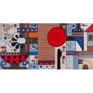 Tony Lima<br>Composição – 80 x 160 cm – OST<br>Ass. CID e Dat. 2010
