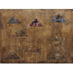 Geraldo Pinto<br>Composição com Triângulos <br>90 x 120 cm – OCST – Ass. CID