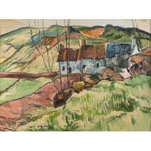 Andréa Vasconcellos<br>Homenagem a Gauguin – 90 x 120 cm <br>AST – Ass. Verso e Dat. 1999