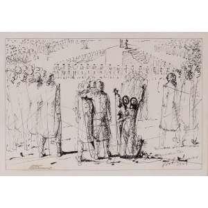 Portinari<br>Tiradentes – 20,5 x 30,5 cm - Nanquim – Ass. CID e CIE e Dat. 1948<br>Registrada no Projeto Portinari<br>Reproduzida no Catálogo Raisonné Volume III do artista na pág. 256