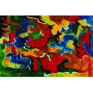 Jorge Guinle<br>Abstração – 80 x 120 cm – OST - Ass. CID e Dat. 1981<br>Acompanha documento de autenticidade emitido pelo Sr. Marco Rodrigues