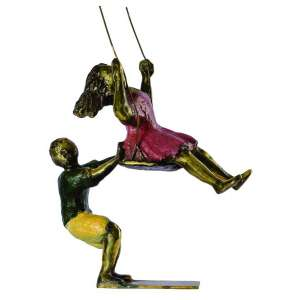 Ivan Cruz<br>Balanço – 30 x 20 x 10 cm<br>Bronze Patinado - Assinado