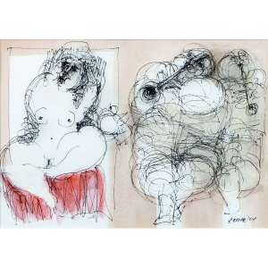 Alexandre Rapoport<br>A musa dos músicos – 20 x 28,5 cm - BPA – Ass. CID e Dat. 2004<br>Reproduzidas no catálogo da exposição individual realizada pelo artista